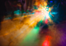 Tonen de de de club lichte speciale gevolgen en laser van de kleurendisco Stock Afbeelding