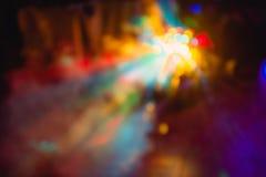 Tonen de de de club lichte speciale gevolgen en laser van de kleurendisco Royalty-vrije Stock Afbeeldingen