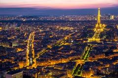 Tonen de Lichte Prestaties van de Toren van Eiffel Royalty-vrije Stock Foto