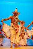 Tonen de traditionele de dansprestaties van Srilankan Stock Afbeelding