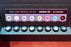 Toner cartridge Large Format UV Flatbed Printer. Toner cartridge part Large-Format UV Flatbed Printer Royalty Free Stock Photography
