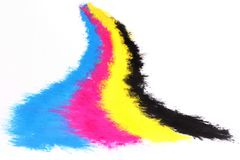 Toner della copiatrice di colore fotografie stock libere da diritti