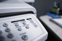 Toner sichern Taste auf einer Telefaxmaschine Lizenzfreie Stockbilder