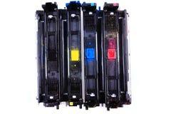 Toners de cmyk de couleur Photographie stock