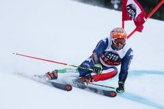 TONETTI Riccardo in Audi Fis Alpine Skiing World-Kop Royalty-vrije Stock Fotografie