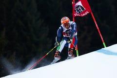 TONETTI Riccardo nel Gia di Men's della tazza di Audi Fis Alpine Skiing World Fotografia Stock