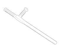 Tonfa - vector illustration. Royalty Free Stock Photography