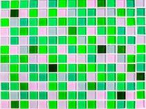 Tonfarbnahaufnahme des blauen Grüns der Mosaikwandfliese Stockbild