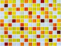 Tonfarbnahaufnahme des orange Gelbs der Mosaikwandfliese Lizenzfreie Stockbilder