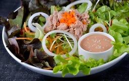Tonfisk och grönsaksallad Royaltyfria Bilder