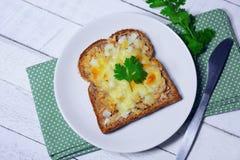 Tonfiskbröd och ost arkivbilder