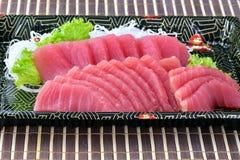 Tonfisksashimi, rå fisk - japansk matstil Arkivfoto