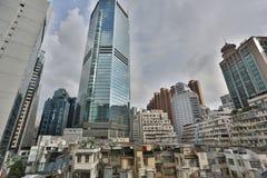 Tong lau, Apartment buildings at day in Hong Kong. Stock Photography