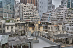 Tong lau, Apartment buildings at day in Hong Kong. Stock Photography
