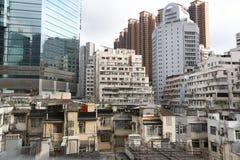 Tong lau / Kee lau / Qilou / tenement building in Hong Kong. The Tong lau / Kee lau / Qilou / tenement building in Hong Kong royalty free stock photography