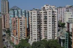 Tong lau old house at hong kong Royalty Free Stock Photography