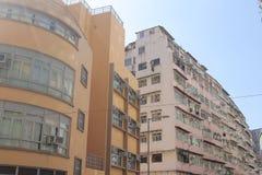 Tong lau old house at hong kong Stock Photo