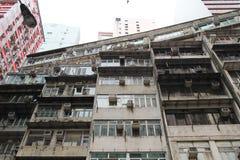 Tong lau old house at Wan Chai Royalty Free Stock Photo