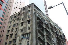 Tong lau old house at Wan Chai Royalty Free Stock Image