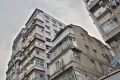 tong lau in Shek Kip Mei Hongkong Royalty-vrije Stock Fotografie