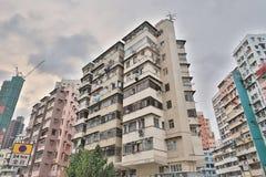 tong lau in Shek Kip Mei Hongkong Stock Afbeeldingen