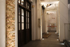 Tong Lau, tenement buildings built Stock Photography