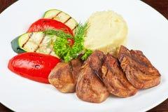 Tong met geroosterde groente Royalty-vrije Stock Fotografie