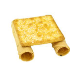 Tong Muan rolled wafer and cracker Thailand as binoculars isolated Stock Image