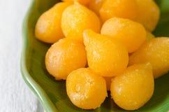 Tong Yod (gocce dolci dei rossi d'uovo) Fotografia Stock