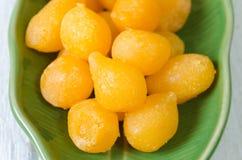 Tong Yod (Słodkie Jajecznych Yolks krople) Zdjęcia Stock