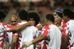Tonga. Players receiving the honnor of the fans at the end of the qualification round of the Rugby World Cup 2007 between  and England at the Parc des Prince on Stock Images