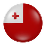 Tonga button on white background. 3d rendering of a Tonga  flag on a button Royalty Free Stock Images
