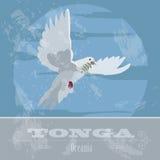 Tonga. Dove. Retro styled image Royalty Free Stock Images