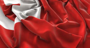 Tonga Flag Ruffled Beautifully Waving Macro Close-Up Shot. Studio Stock Images