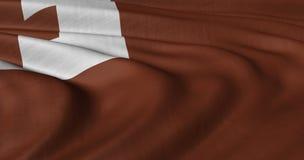 Tonga flagga som fladdrar i ljus bris Arkivfoton