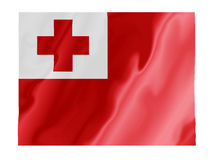 Tonga fluttering. Fluttering image of the Tonga national flag Royalty Free Stock Images