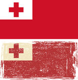 Tonga grunge flag. Vector illustration Royalty Free Stock Photos