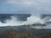 Tonga Island shoreline Huts 6 Royalty Free Stock Image