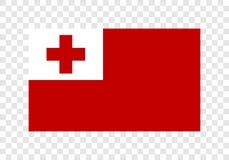 Tonga - nationsflagga vektor illustrationer