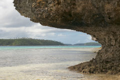 Tonga Polynesia Paradise Crystal Water Poster Panorama Stock Photo