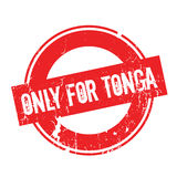 Only For Tonga rubber stamp. Grunge design with dust scratches. Effects can be easily removed for a clean, crisp look. Color is easily changed Stock Photos