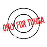Only For Tonga rubber stamp. Grunge design with dust scratches. Effects can be easily removed for a clean, crisp look. Color is easily changed Stock Photo