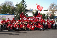 Tonga rugby fans Royalty Free Stock Photos