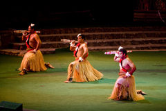 Tongan Dancers at Polynesian Cultural Center Stock Image