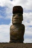 tongariki αγαλμάτων νησιών Πάσχας ahu Στοκ Φωτογραφία