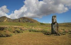 tongariki острова пасхи ahu Стоковое Изображение RF