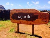Tongariki Lizenzfreie Stockfotos