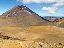 Tongariro横穿,新西兰 库存图片