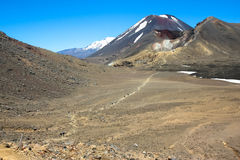 Tongariro横穿,新西兰 库存照片