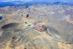 Tongariro红色火山口 图库摄影